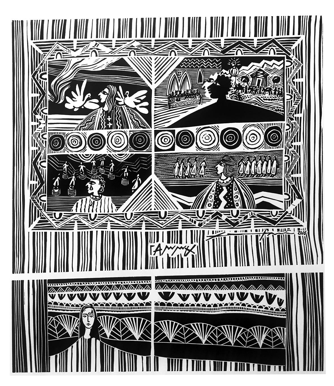 ΔΗΜΟΤΙΚΟ ΜΟΥΣΕΙΟ ΧΑΡΑΚΤΙΚΗΣ ΧΑΜΠΗ | Τύπωσε και κυκλοφόρησε 100 αριθμημένα και υπογεγραμμένα αντίτυπα μιας ξεχωριστής αυθεντικής λινογραφίας