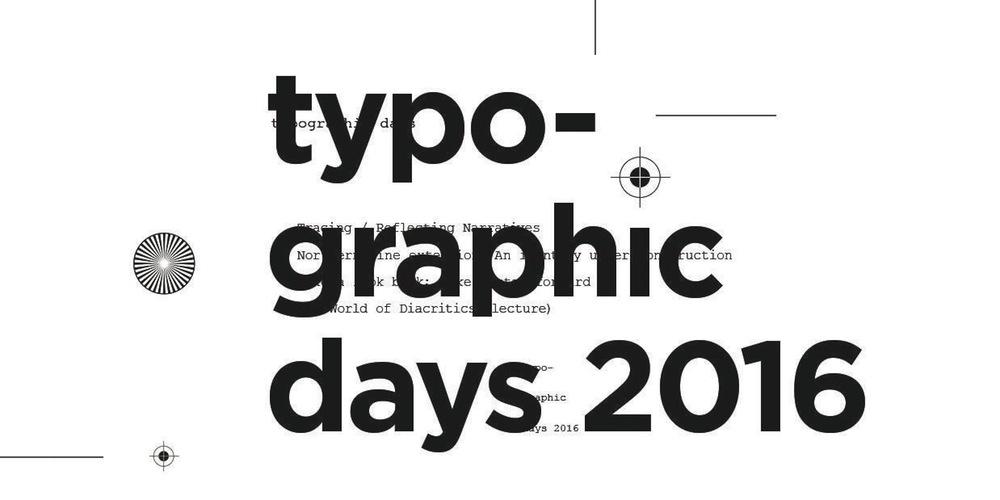 """Σειρά διαλέξεων με θέμα τον τυπογραφικό και γραφιστικό σχεδιασμό, το Σάββατο 22 Οκτωβρίου 2016. Επίσημος προσκεκλημένος και κύριος ομιλητής, θα είναι ο Filip Blažek, γραφίστας/τυπογραφικός σχεδιαστής με έδρα την Πράγα και εκπρόσωπος της Τσεχίας στο διεθνή οργανισμό ATypI. Αμφιθέατρο 2, Κτίριο Τάσσος Παπαδόπουλος, Θέμιδος & Ιφιγενείας γωνία, Λεμεσός Πρόγραμμα διαλέξεων: 17.00 – 17.30 Όμηρος Παναγίδης, διάλεξη με τίτλο """" Tracing—Reflecting Narratives"""" 17.30 – 18.00 Γιώργος Σουγλίδης, διάλεξη με τίτλο """" Northern line extension: An identity under construction """" 18.00 – 18.30 Σάββας Ξιναρής, διάλεξη με τίτλο """"Take a look back; make a step forward"""" 18.30 – 19.15 Filip Blažek, διάλεξη με τίτλο """"The World of Diacritics"""" 19.15 – 19.30 Ερωτήσεις – Συζήτηση Διοργάνωση: Ερευνητικό εργαστήριο για τη Γλώσσα & τη Γραφιστική Επικοινωνία (ΕΕΓΓΕ) Ερευνητικό Εργαστήριο Σημειωτικής και Οπτικής Επικοινωνίας (ΕΕΣΟΕ) Για περισσότερες πληροφορίες και κρατήσεις στο www.eventbrite.com/e/typo-graphic-days-2016-lectures-tickets-27925698516?aff=efbnreg"""
